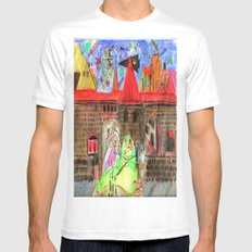 1561 Aerial Battle Over Nuremberg Reimagined from Jakobstor MEDIUM Mens Fitted Tee White