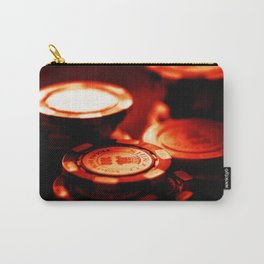 Casino Chips Stacks-Red Carry-All Pouch