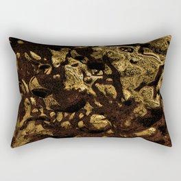 Golden Melted Chocolate Rectangular Pillow