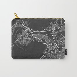 Cape Town Map, South Africa - Gray Carry-All Pouch