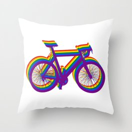 LGBT bicycle gift cycling cycling gay speed bike Throw Pillow