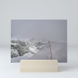 Snow is whiter on the other side Mini Art Print