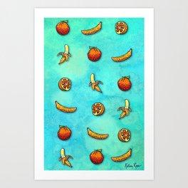 Orange Ya Glad I Didn't Say Banana? Art Print
