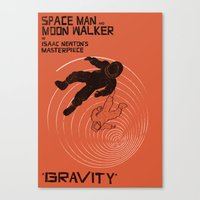 gravity Canvas Prints featuring GRAVITY by Resistance