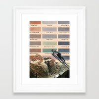ski Framed Art Prints featuring Ski by Sarah Brust