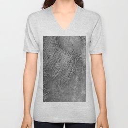 textured jute fabric for background and texture Unisex V-Neck