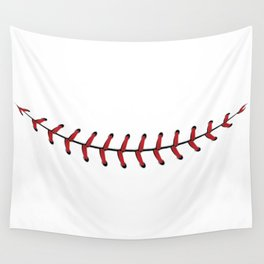 Baseball Lace Smile Wall Tapestry