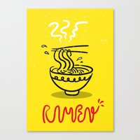ramen Canvas Prints featuring RAMEN by OHOO SIX