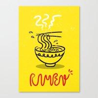ramen Canvas Prints featuring RAMEN by ko kihoon