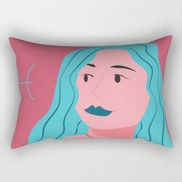 Pisces Zodiac Woman Rectangular Pillow