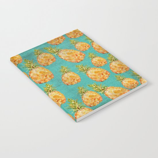 Summer pineapple fruit holiday fun pattern Notebook