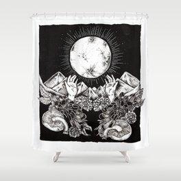 """Harvest Moon"" Shower Curtain"