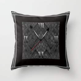 Watch. Black and white pattern . Throw Pillow