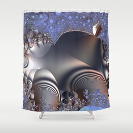 Warped time and space Shower Curtain
