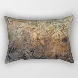 Ancient Astrology Clock Rectangular Pillow