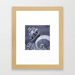 Whirlpool of ships Framed Art Print