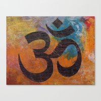 om Canvas Prints featuring Om by Michael Creese