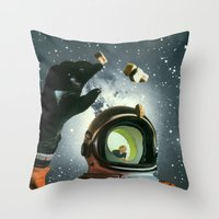 portal Throw Pillows featuring Portal by Peter Campbell