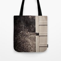 door Tote Bags featuring Door by Vintage Rain Photography