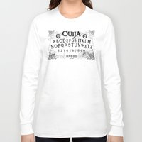 ouija Long Sleeve T-shirts featuring Ouija (Gravedigger) by Impale Design