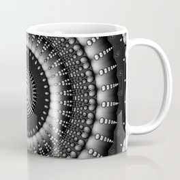 raindrops mandala bw Coffee Mug