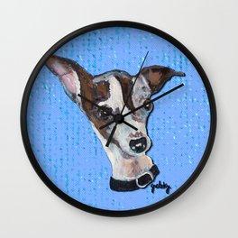 Mia the Italian Greyhound Wall Clock