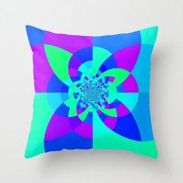 Orchid Aqua Turquoise Kaleidoscope Throw Pillow
