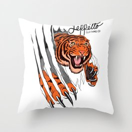 Geppetto Tiger Rip Throw Pillow