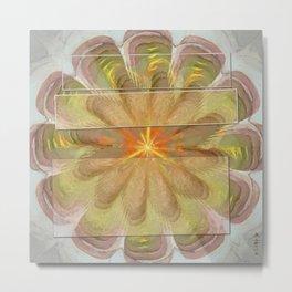 Sluffed Raw Flower  ID:16165-085108-61771 Metal Print