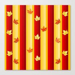 Autumn Striped Pattern Canvas Print