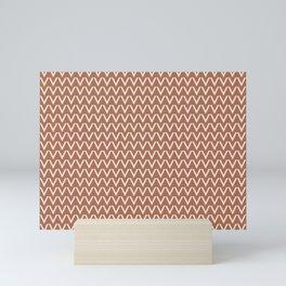 Creamy Off White SW7012 V Shape Horizontal Lines on Cavern Clay SW 7701 Mini Art Print