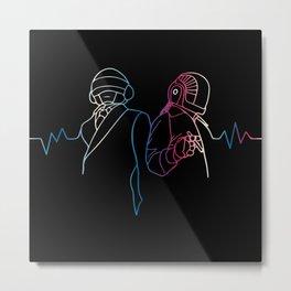 Daft Punk Sound Metal Print
