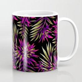 Aechmea Fasciata - Dark Purple / Gold Coffee Mug