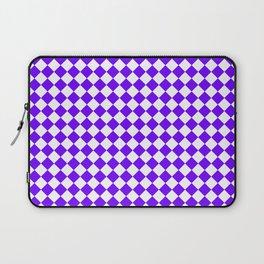 Small Diamonds - White and Indigo Violet Laptop Sleeve