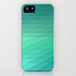 Fig. 043 Mint Green Geometric Diagonal Stripes iPhone Case