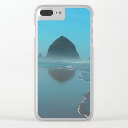 Haystack Rock, Cannon Beach Oregon Clear iPhone Case