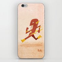 flash iPhone & iPod Skins featuring Flash by Popol