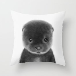 Cute Otter Throw Pillow