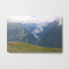 A cloudy day in the Alps Metal Print