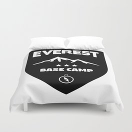 Mount Everst Base Camp Duvet Cover