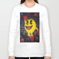 pacman Long Sleeve T-shirts featuring pacman by RaieshaM