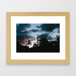 Winter Clouds Framed Art Print