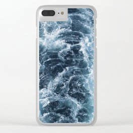 Sea Blue Wake - Pacific Ocean Clear iPhone Case