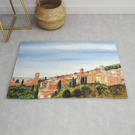 Assisi Italy with Basilica Of San Francesco Rug