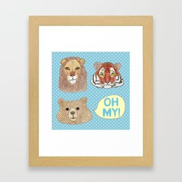 Lions & Tigers & Bears Framed Art Print