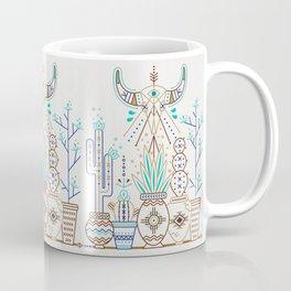 Santa Fe Garden – Turquoise & Brown Coffee Mug