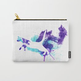 Watercolor Splat Cat Carry-All Pouch