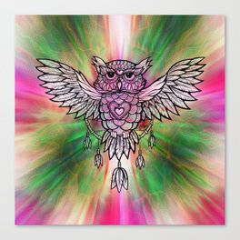 Owl Dreamcatcher by Julie Oakes Canvas Print