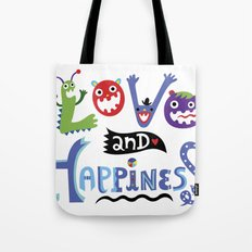 Love and Happiness Tote Bag