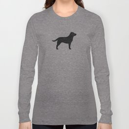 Black Labrador Retriever Silhouette Long Sleeve T-shirt
